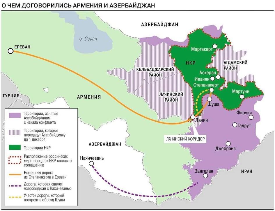 Нагорный Карабах поделили на троих - Коммерсантъ - Aniarc